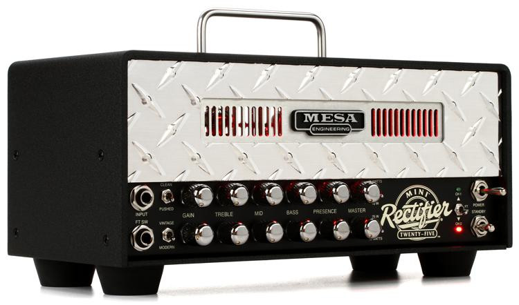 Mesa/Boogie Mini Rectifier 25 - 25-watt Tube Head with Silver Diamond Faceplate image 1