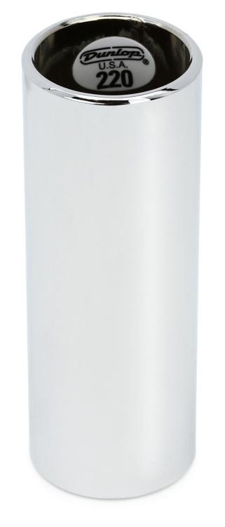 Dunlop 220 Chromed Steel Slide - Regular Wall Thickness- Medium image 1