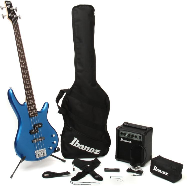 Ibanez IJXB150B Jumpstart Bass Pack - Starlight Blue image 1