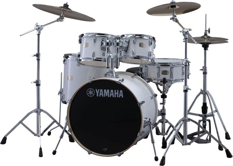 Yamaha Stage Custom Birch Drum Set - Pure White image 1
