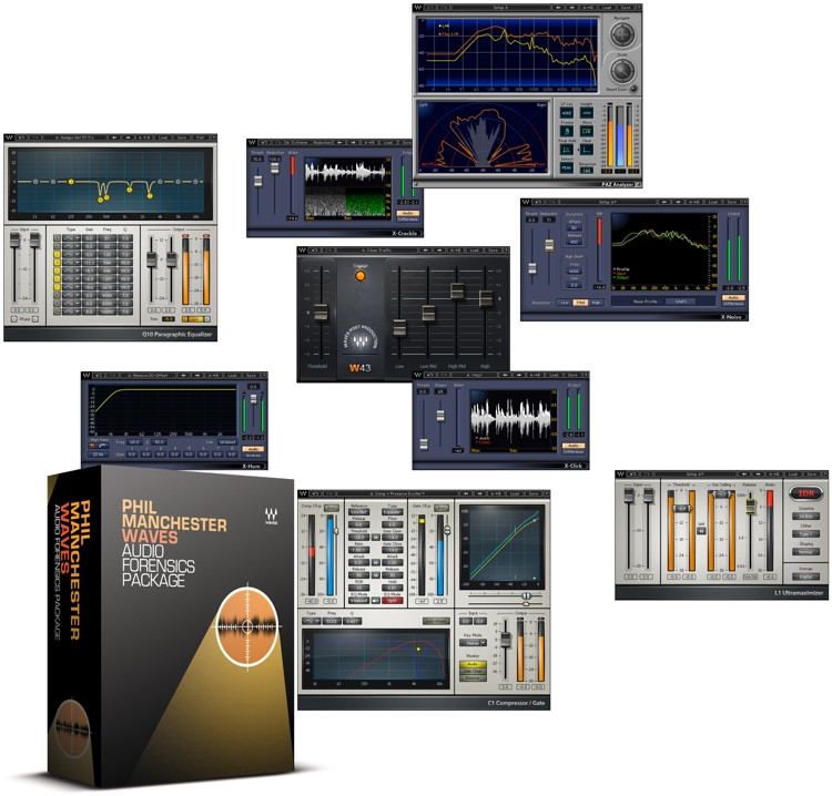 Waves Audio / Phil Manchester Forensics Package Plug-in Bundle image 1