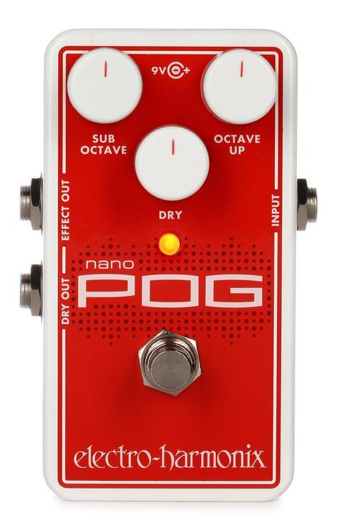 electro harmonix nano pog polyphonic octave generator pedal sweetwater. Black Bedroom Furniture Sets. Home Design Ideas