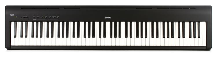 kawai es110 88 key digital piano with speakers gloss black sweetwater. Black Bedroom Furniture Sets. Home Design Ideas