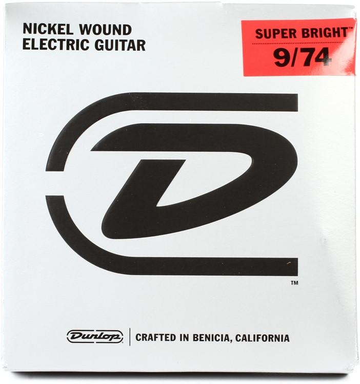 Dunlop Super Bright Electric Strings - .009-.074, Hybrid 8-String image 1