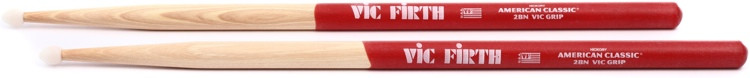Vic Firth American Classic Drumsticks With Vic Grip - 2B - Nylon Tip image 1