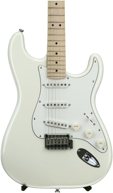 Squier Deluxe Strat - Pearl White image 1
