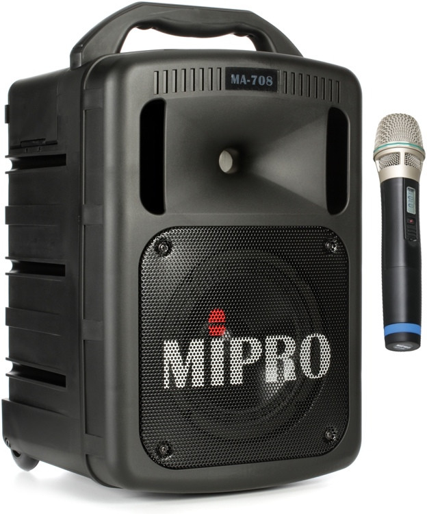 MIPRO MA-708 - Portable PA with CD Player, Wireless Mic and Bluetooth image 1