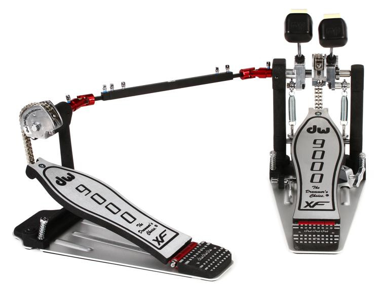DW 9000 Series Pedal - Double - Extended Footboard image 1