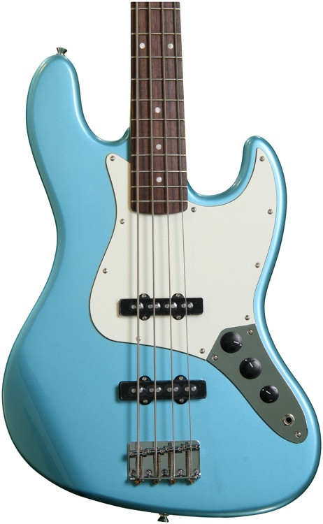 squier affinity series jazz bass lake placid blue sweetwater. Black Bedroom Furniture Sets. Home Design Ideas