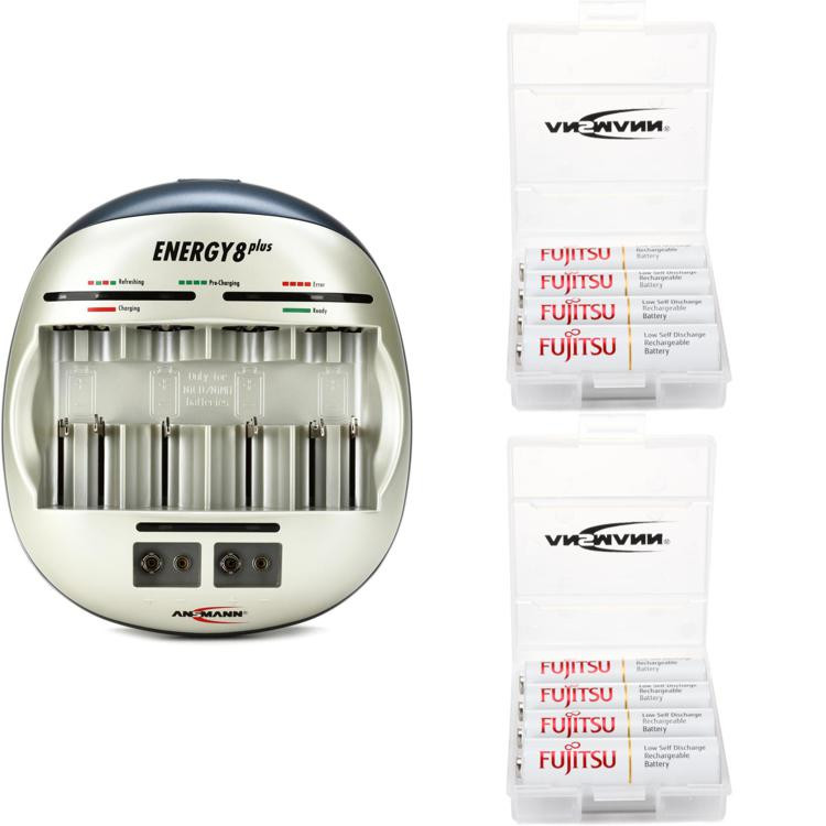 Ansmann Powerline 6+2 with (8) Max E Pro AA Batteries image 1