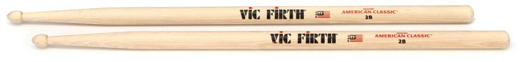 Vic Firth American Classic Drum Sticks - 2B - Wood Tip image 1