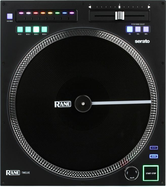 Rane twelve turntable controller sweetwater for Dj controller motorized platters