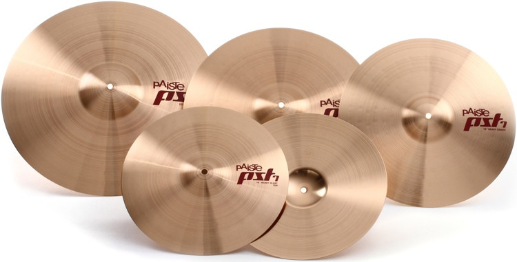 Paiste PST7 Rock Cymbal Set - with FREE 16