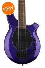 Ernie Ball Music Man Bongo 5 HS Fretless - Firemist Purple