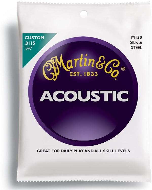Martin M-130 Silk & Steel Acoustic Strings image 1