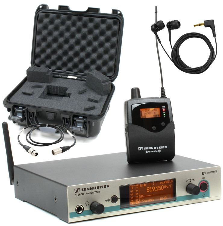 Sennheiser EW 300 Wireless In-ear Monitor System with Case and Cable image 1