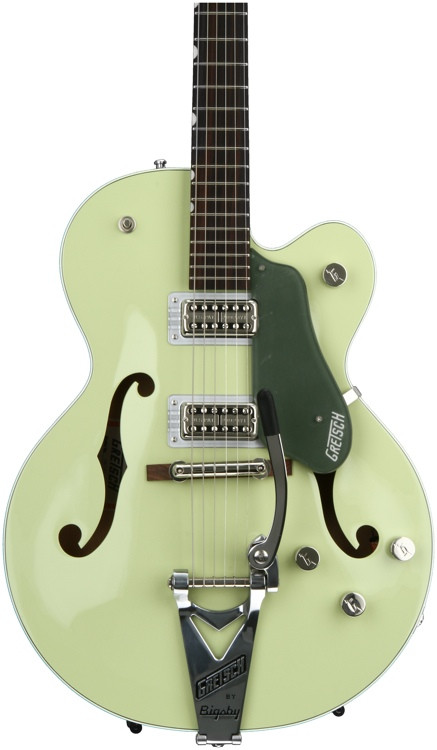 Gretsch G6118T-SGR Players Edition Anniversary - 2-Tone Smoke Green, Bigsby image 1