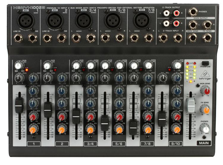 Behringer Xenyx 1002B Mixer image 1