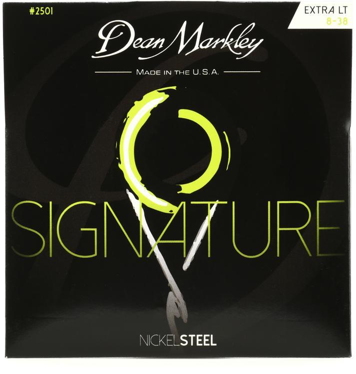 Dean Markley 2501 Nickel Steel Electric Guitar Strings - .008-.038 Extra Light image 1