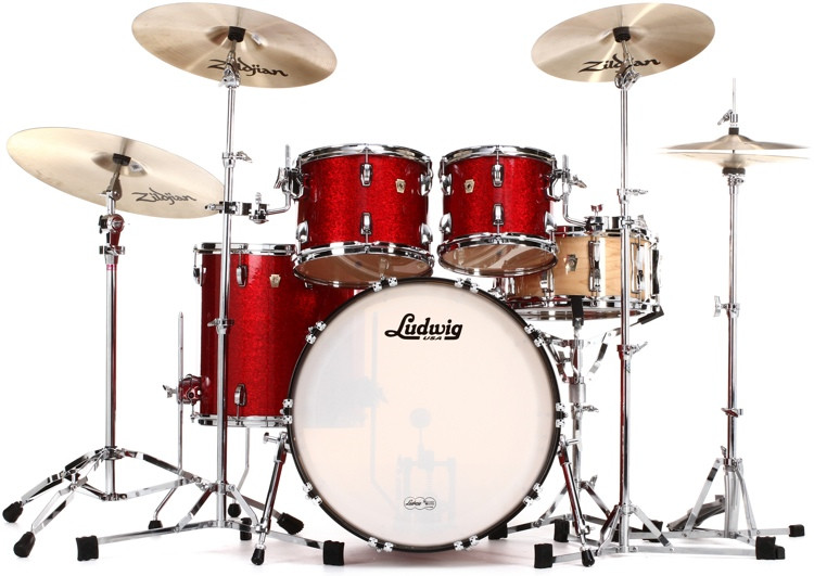 Ludwig Classic Maple Mod 22 Shell Pack - Red Sparkle image 1