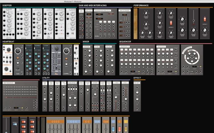 Softube Modular Basic Package Eurorack Synthesizer Virtual Instrument image 1