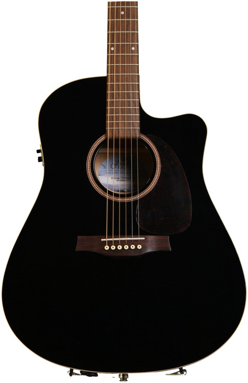 seagull guitars entourage cutaway acoustic electric black sweetwater. Black Bedroom Furniture Sets. Home Design Ideas