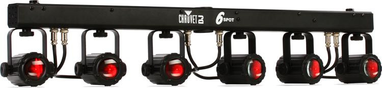 chauvet dj 6spot 6 x 3w rgb spot system sweetwater. Black Bedroom Furniture Sets. Home Design Ideas