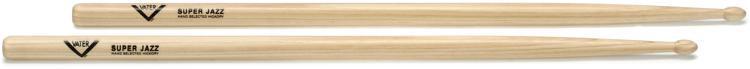 Vater American Hickory Drumsticks - Super Jazz - Wood Tip image 1