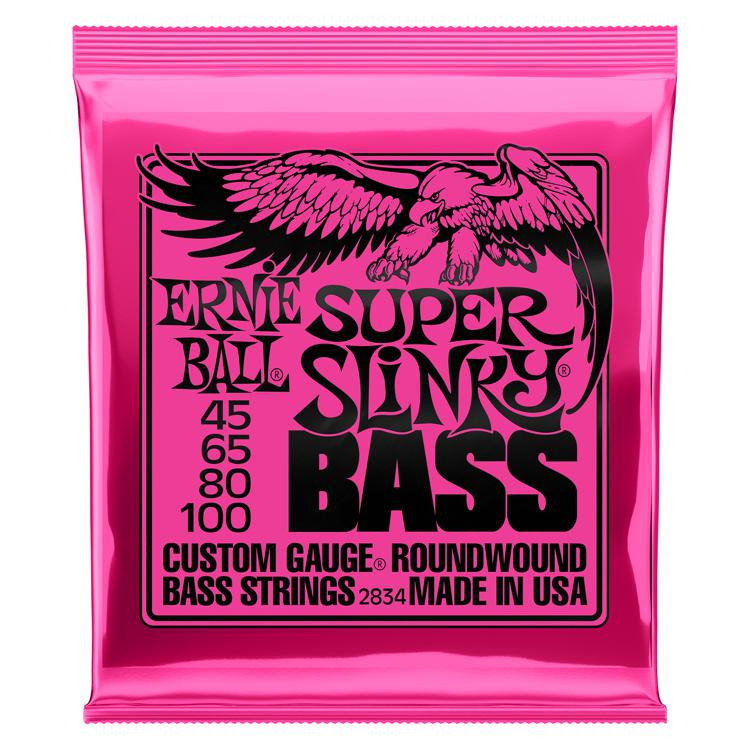 Ernie Ball 2834 Super Slinky Roundwound Bass Strings image 1