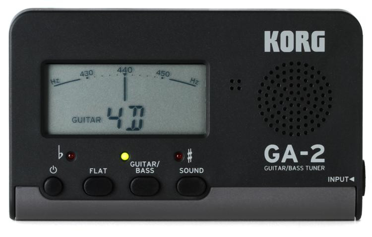 korg ga 2 guitar and bass tuner sweetwater. Black Bedroom Furniture Sets. Home Design Ideas