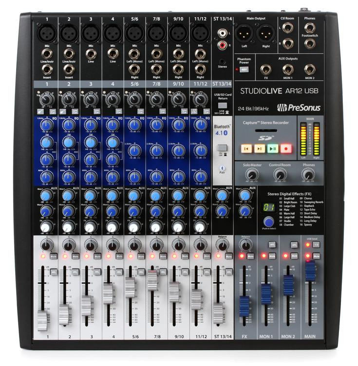 presonus studiolive ar12 usb mixer and audio interface with effects sweetwater. Black Bedroom Furniture Sets. Home Design Ideas