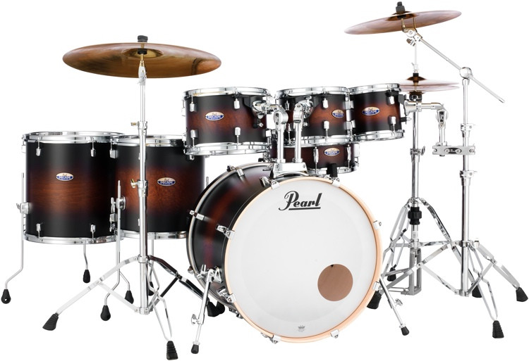 Pearl Decade Maple Shell Pack - 7pc - Satin Brownburst image 1