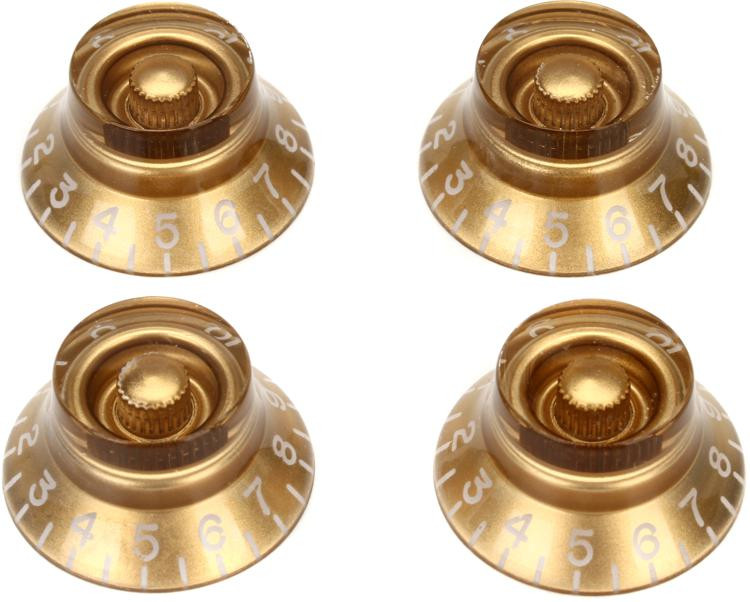 Gibson Accessories Top Hat Knobs - Gold image 1