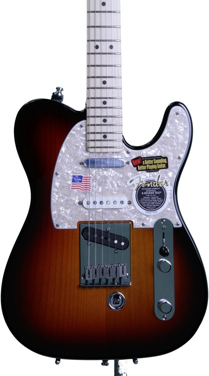 fender american nashville b bender telecaster 3 color sunburst sweetwater. Black Bedroom Furniture Sets. Home Design Ideas