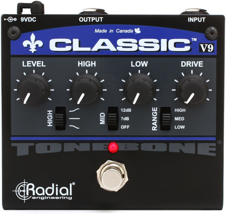 Radial Tonebone Classic-V9 Distortion Pedal with EQ image 1