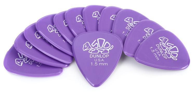 Dunlop 41P1.50 Delrin 500 1.50mm Lavender Guitar Picks 12-Pack image 1