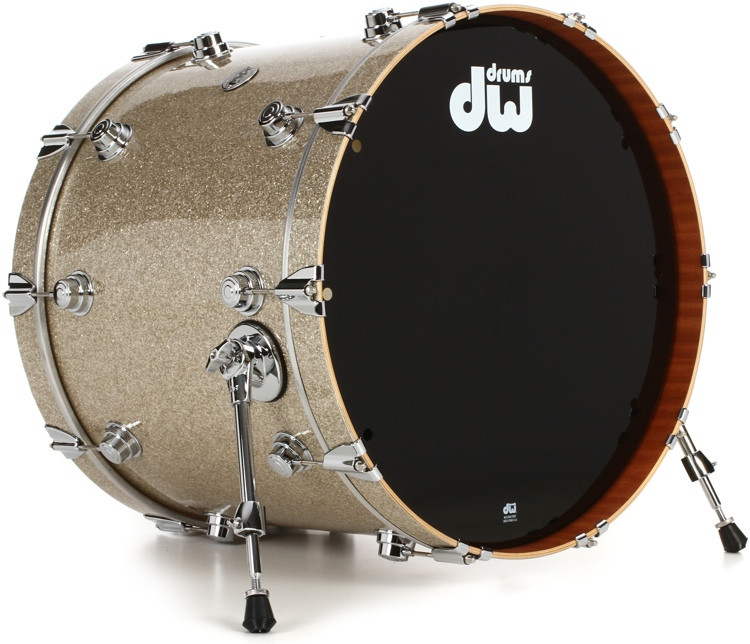 DW Collector\'s Series FinishPly Maple/Mahogany Bass Drum - 18