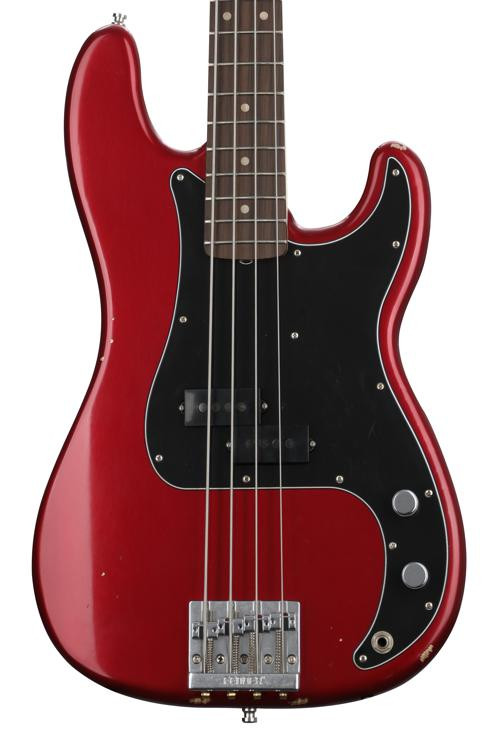 Fender Nate Mendel Precision Bass - Road Worn Candy Apple Red image 1