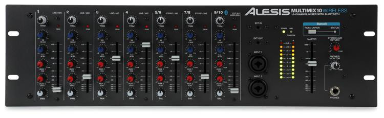Alesis MultiMix 10 Wireless Rackmount Mixer with Bluetooth image 1