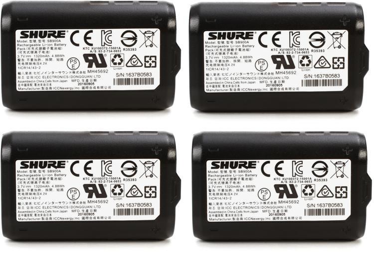 Shure 4-Pack of SB900 Batteries image 1