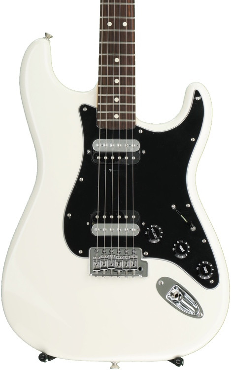 Fender Standard Stratocaster HH - Olympic White with Rosewood Fingerboard image 1