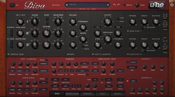 u-he Diva Virtual Analog Synth Plug-in image 1