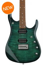 Ernie Ball Music Man John Petrucci JP15 Flame Maple Top - Teal Burst