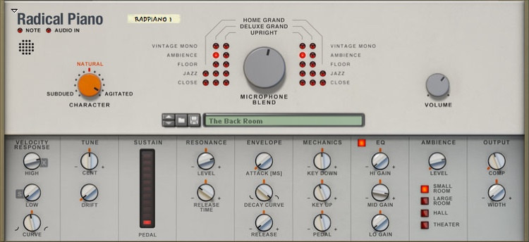 Propellerhead Radical Piano Rack Extension for Reason image 1