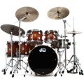 DW Collector's Series Lacquer Cherry/ Mahogany Shell Pack - 5-pc - Natural to Rich Red Burst