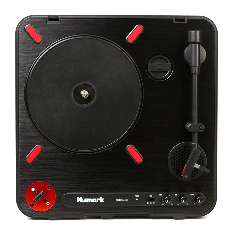 numark pt01 scratch portable dj turntable sweetwater. Black Bedroom Furniture Sets. Home Design Ideas