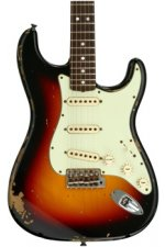 Fender Custom Shop Michael Landau Signature 1968 Relic Stratocaster - Bleached 3-tone Sunburst with Rosewood Fingerboard
