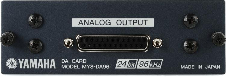 Yamaha MY8DA96 8-channel 96kHz Analog Output Card image 1