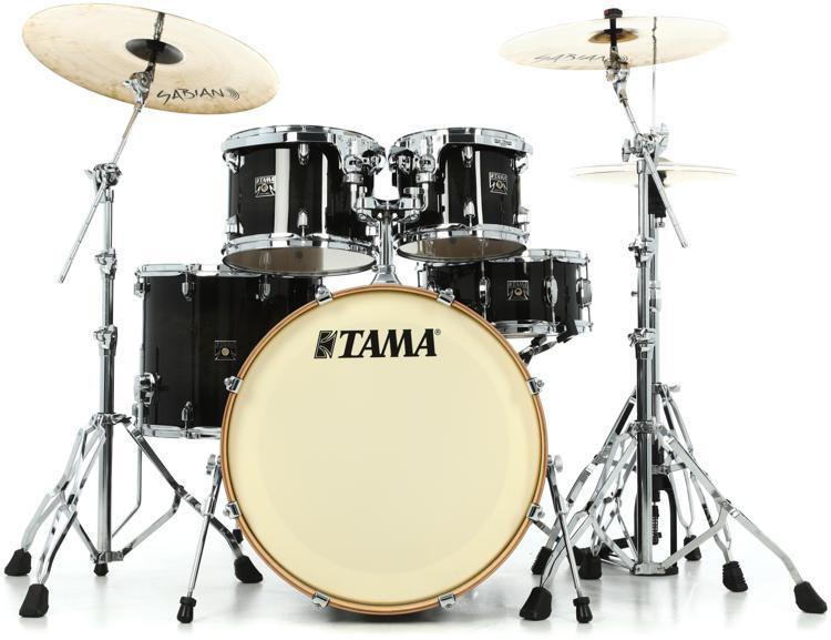 Tama Superstar Classic 5-piece Shell Pack - Transparent Black Burst Lacquer image 1