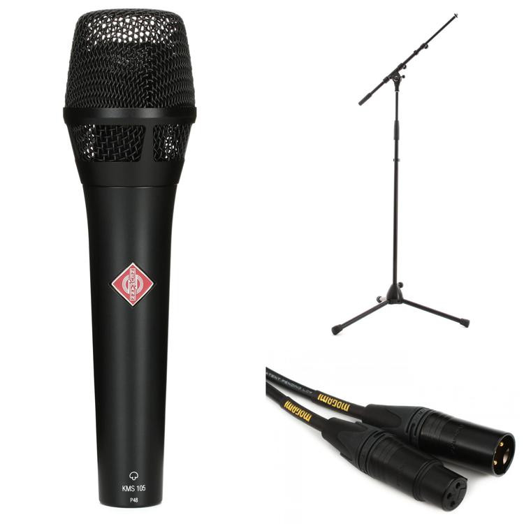 Neumann KMS 105 Microphone with Stand and Cable - Matte Black image 1